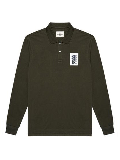 Three Lions Patch Long-sleeve Polo