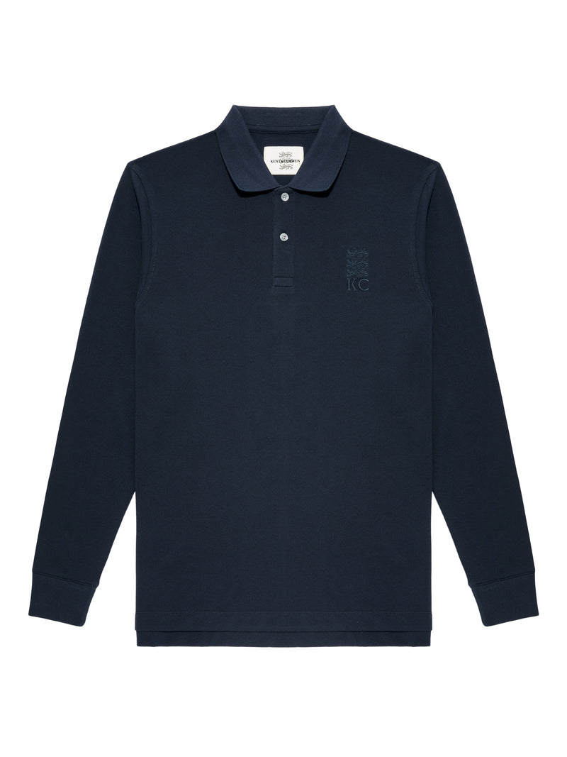 Cotton Jersey Rugby Long Sleeve Polo