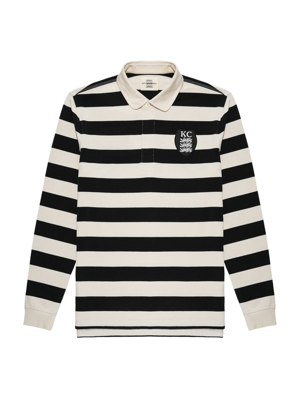 Long-Sleeved Logo Polo Shirt
