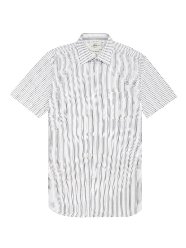 Mulberry Silk Blend Short-sleeve Shirt