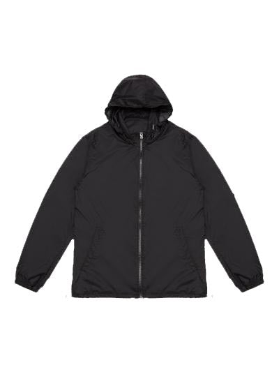 Nylon Blend High Collar Windbreaker