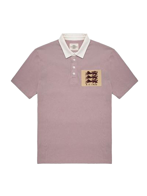 4-buttoned Three Lions Patch Short-sleeve Polo