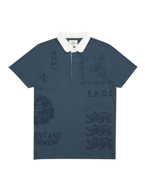 Assorted Lion Print Short-sleeve Polo