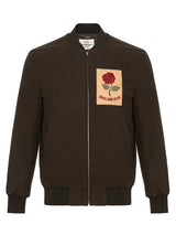 Broadcloth Rose Patch Bomber Jacket