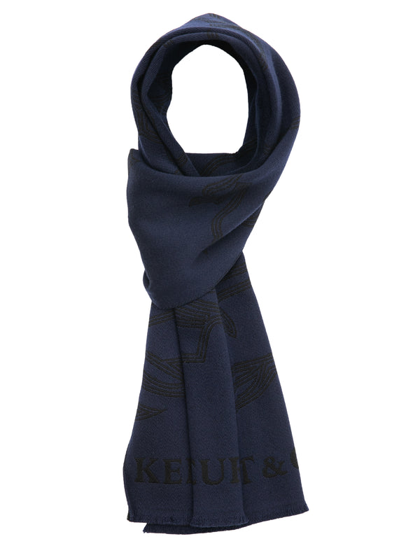Embroidered-Logo Wool Scarf