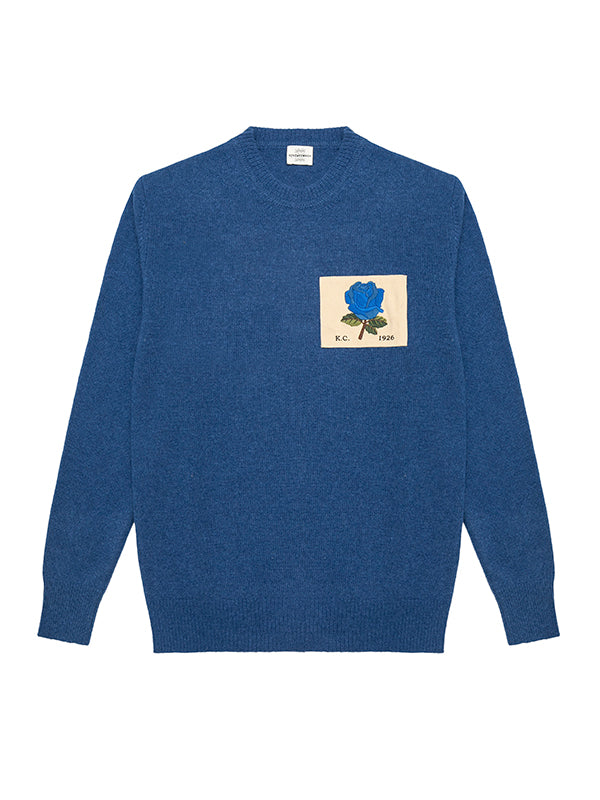 Rose Patch Crew Neck Jumper