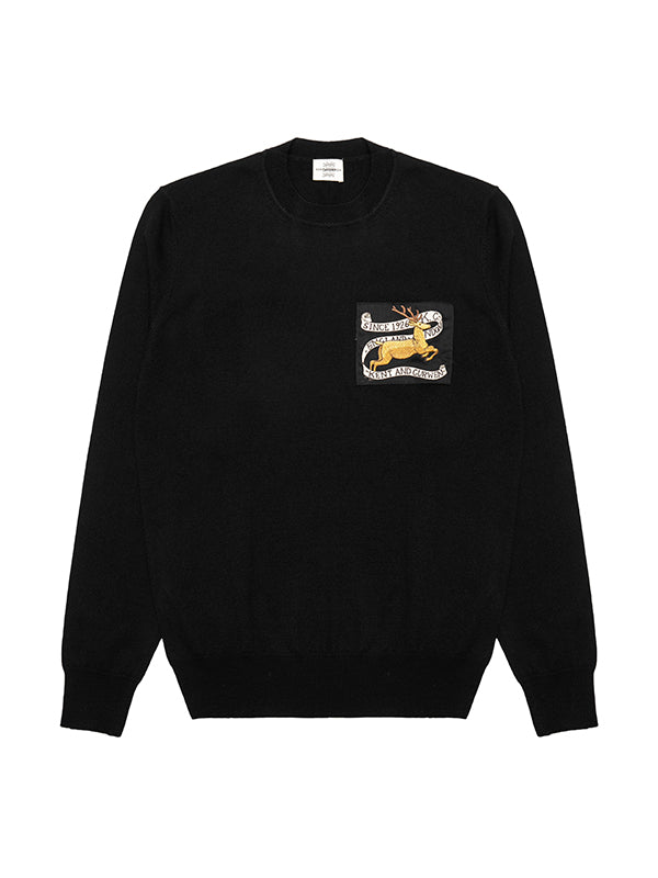 Deer Patch Crew Neck Jumper
