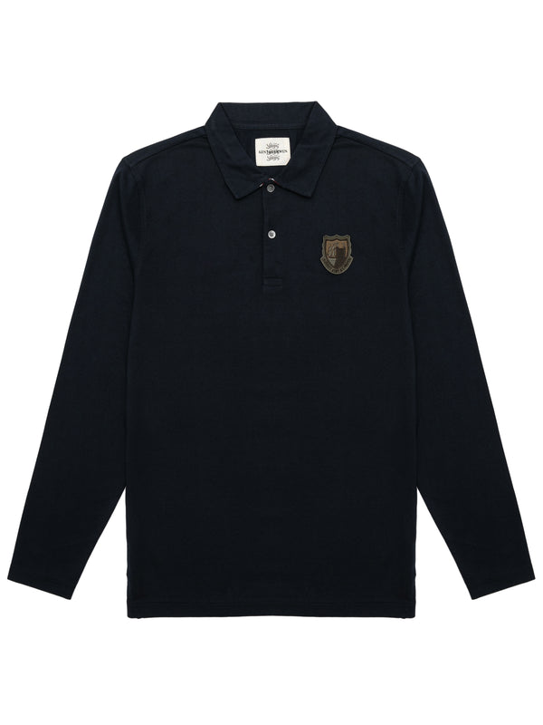 Logo Crest Longsleeved Polo Shirt