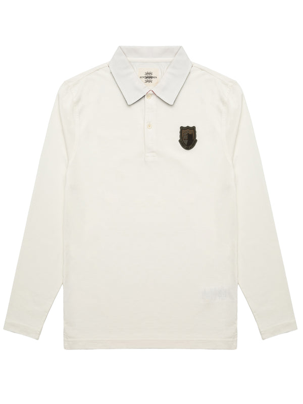 Logo Crest Long Sleeved Polo Shirt