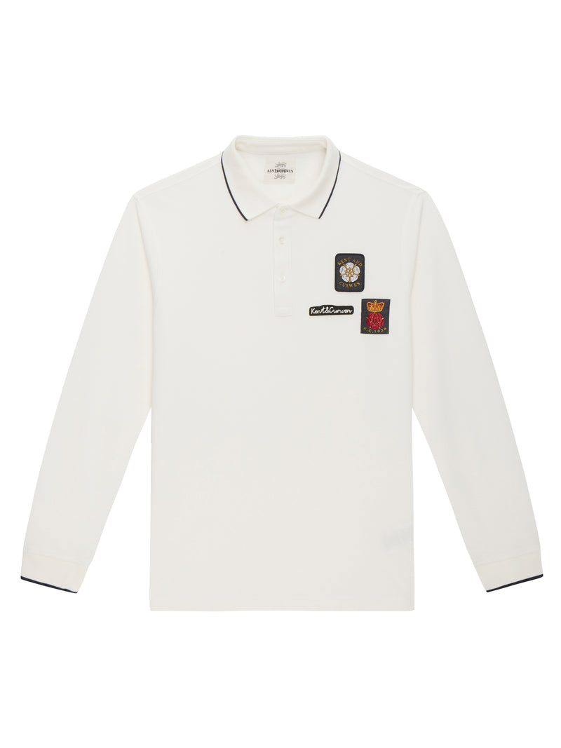 Embroidered Patch Polo Shirt