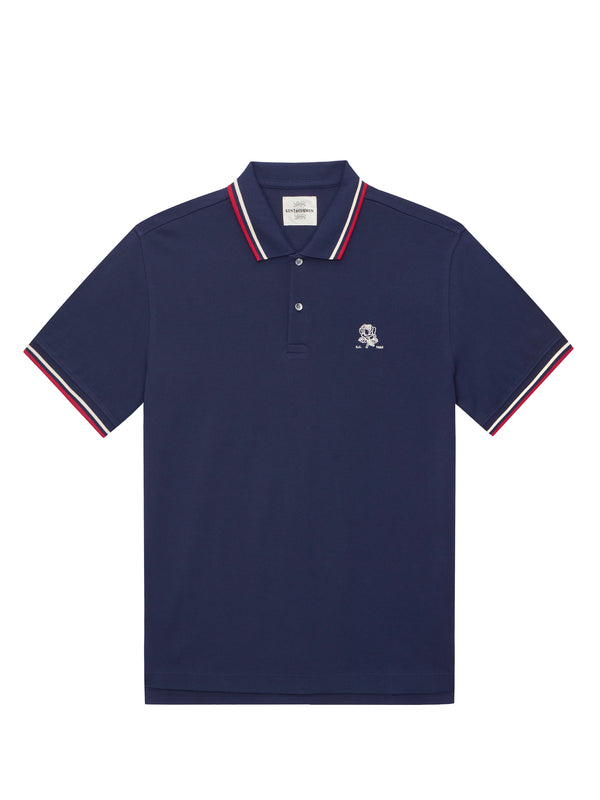 Blue Short-Sleeved Polo Shirt