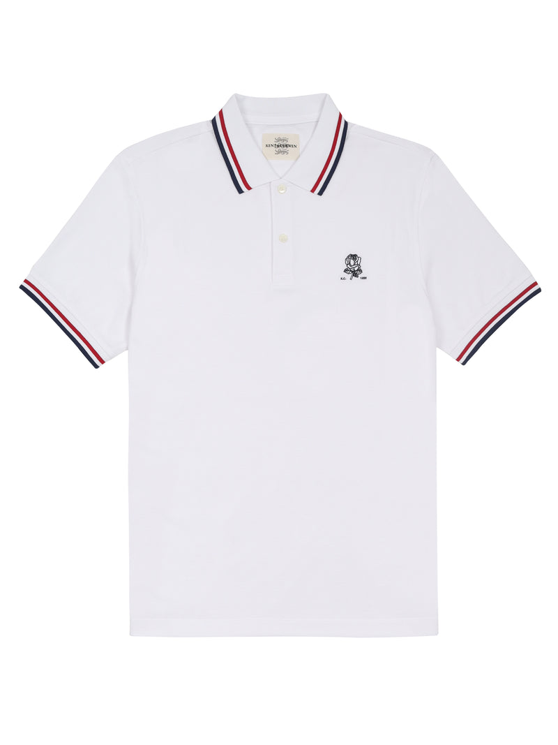 White Short-Sleeved Polo Shirt