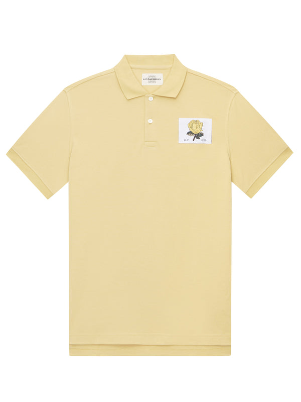 Yellow Short-Sleeved Polo Shirt