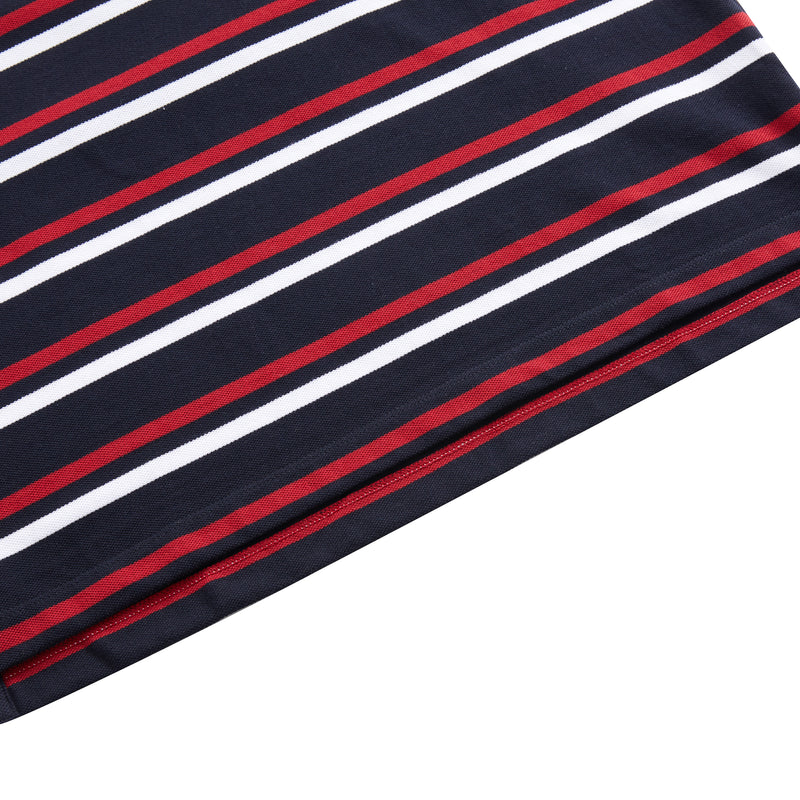 Stripe Print Polo Shirt