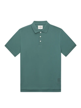 Green Cotton Contrasting Collar Polo Shirt