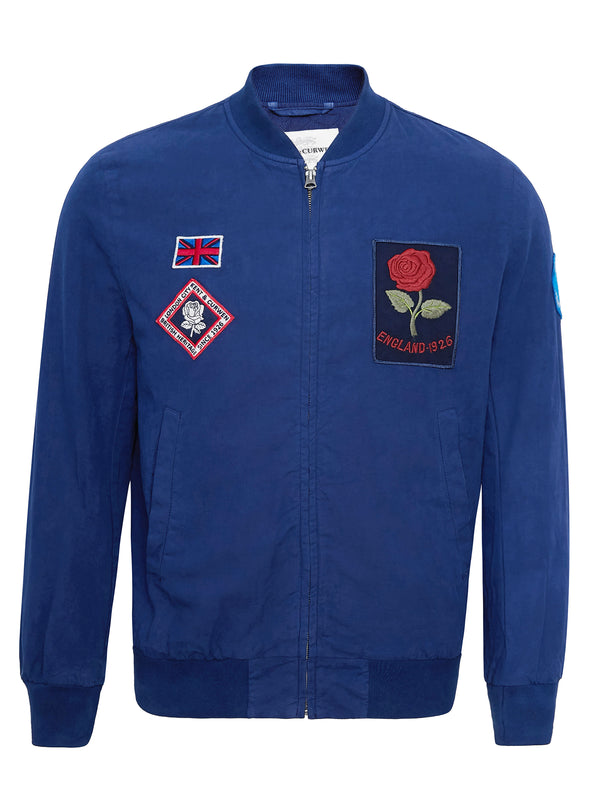 Badge-Appliqué Bomber Jacket