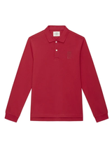 Red Long Sleeve Polo Shirt