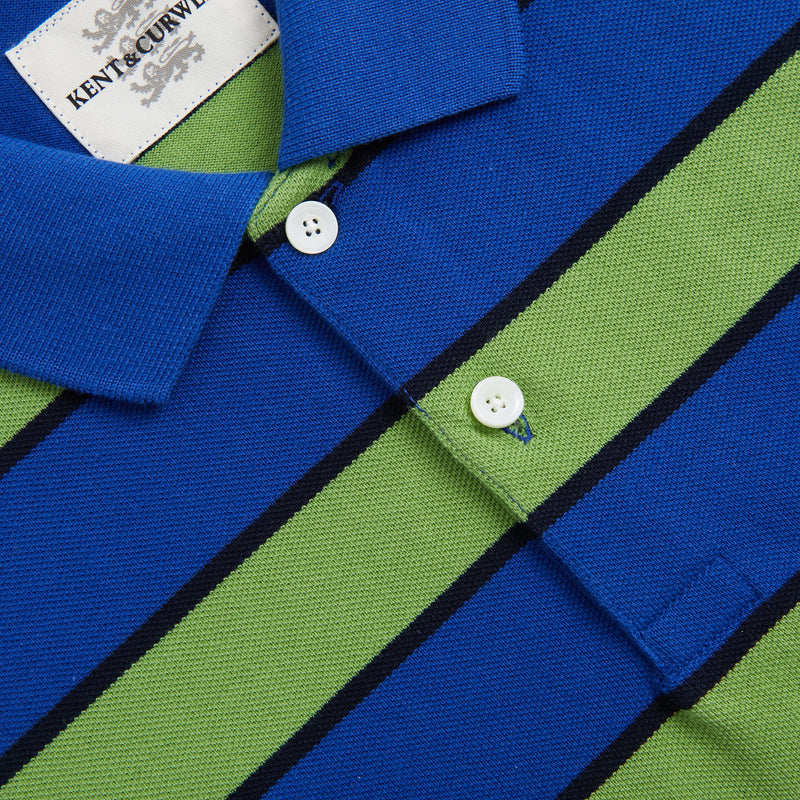 Green Cotton Short Sleeve Polo Shirt