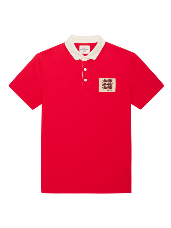 Red short sleeve Lion badge Rugby
