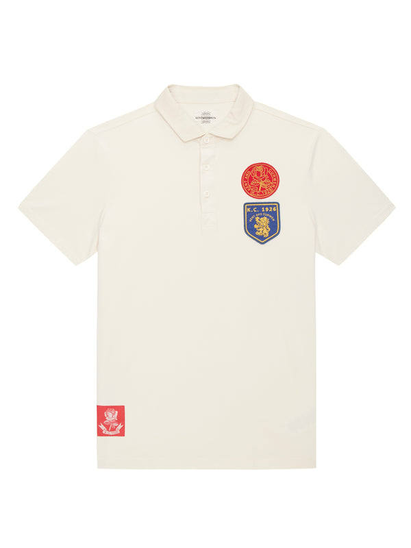 White short sleeve rugby with badges