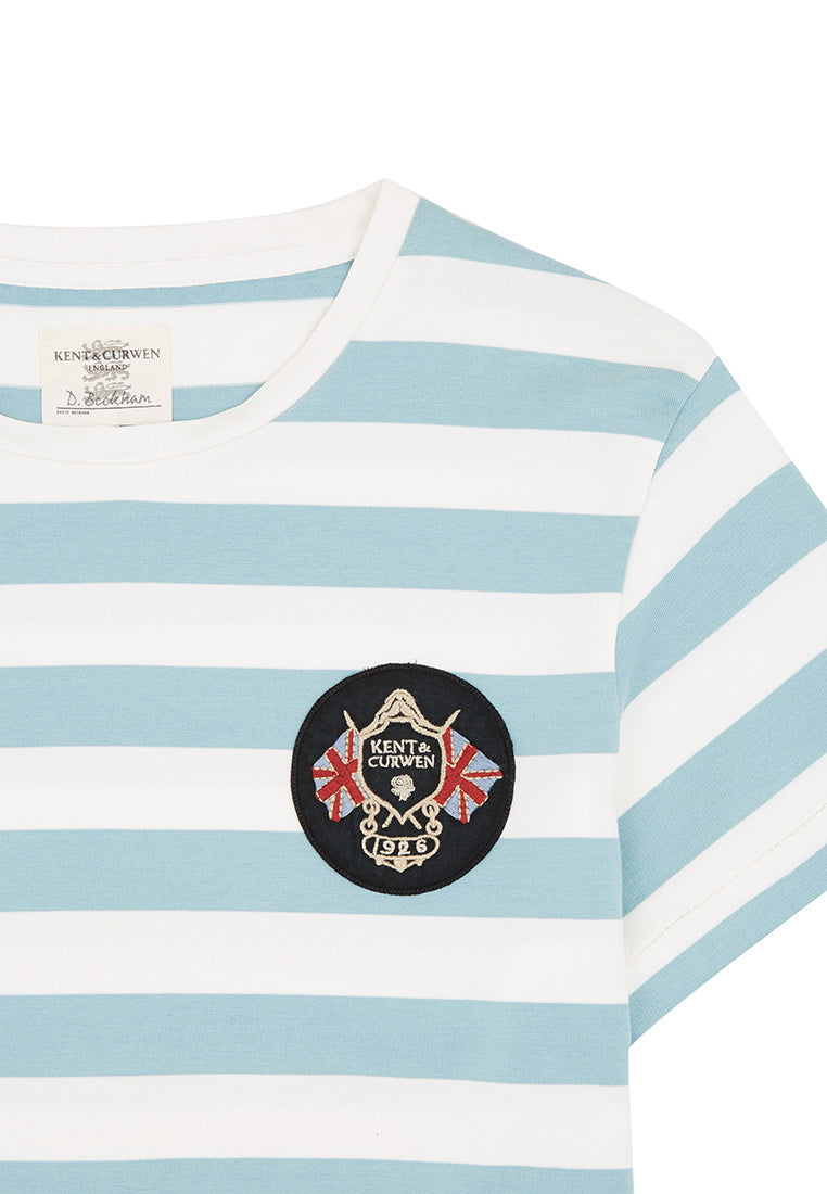 Patch Striped T-Shirt