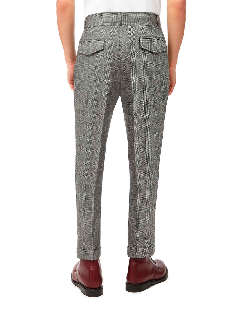 Prince Of Wales Wool Trouser