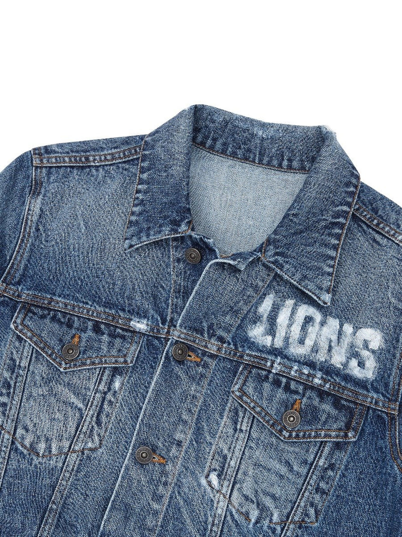 Lions Printed Denim Trucker