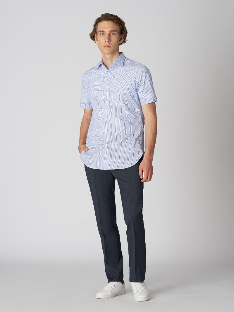 Balanced Stripe Short-sleeve Shirt