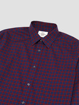 Windowpane Plaid Casual Button-up