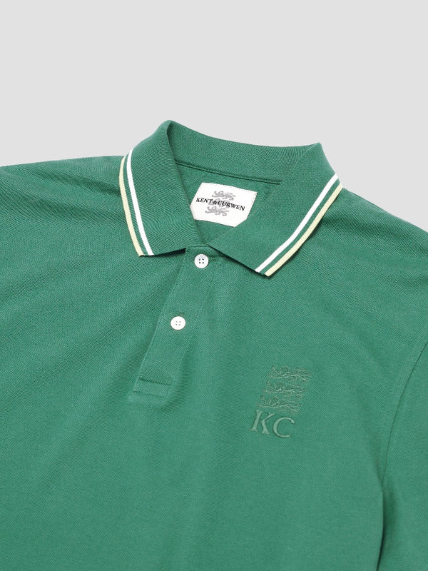 Two-toned Striped Lining Three Lions Polo