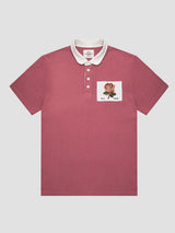 4-buttoned Rose Of England Patch Polo