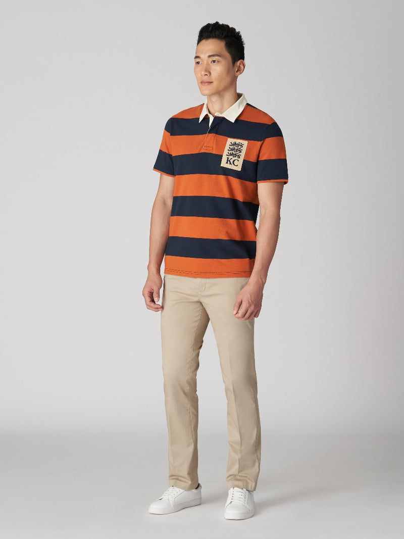 Two-toned Contrasting Collar Polo