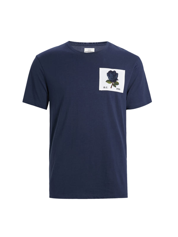 Blue Rose Patch T-Shirt