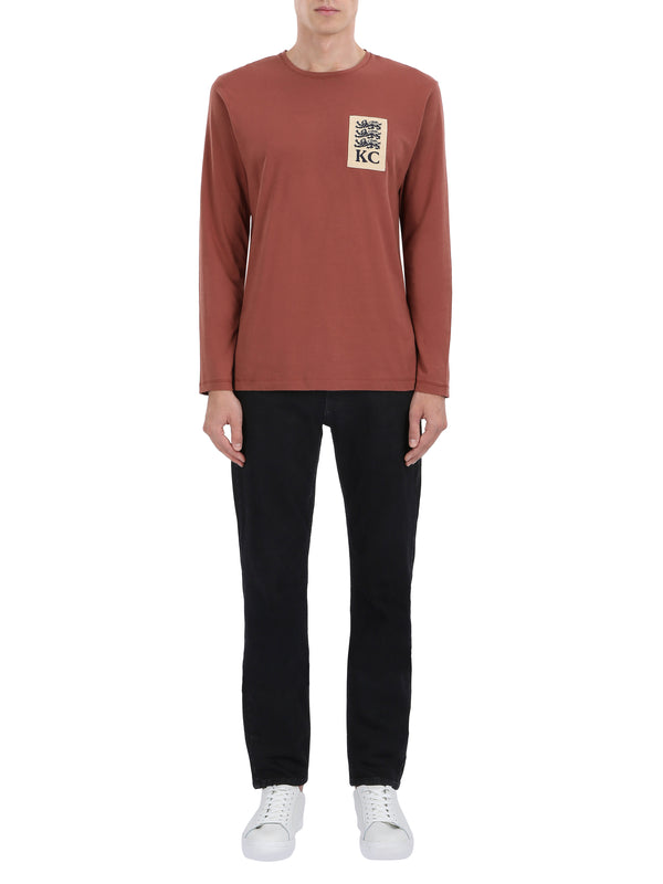 Three Lions Patch Long-sleeve T-shirt
