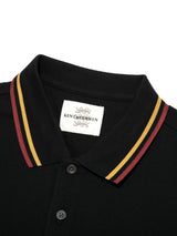 Three Lions Stripe Collar Polo