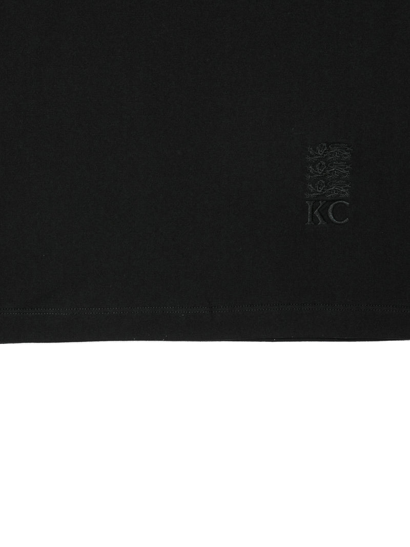 Cotton Jersey Three Lions V-neck T-shirt
