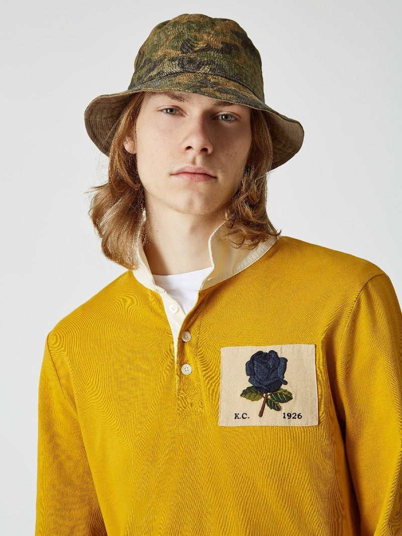 Rose Embroidered Rugby Shirt
