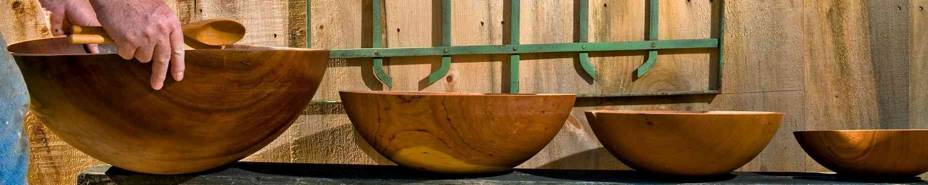 American-made wooden bowls