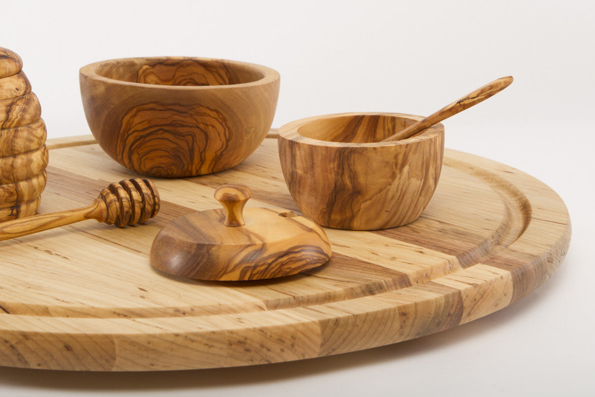 Wood Lazy Susan Handmade Turntable | NH Bowl and Board ...