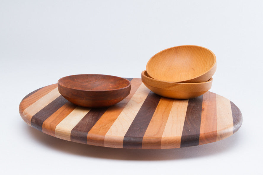 wood lazy susan match every table 3 sizes in stock free shipping