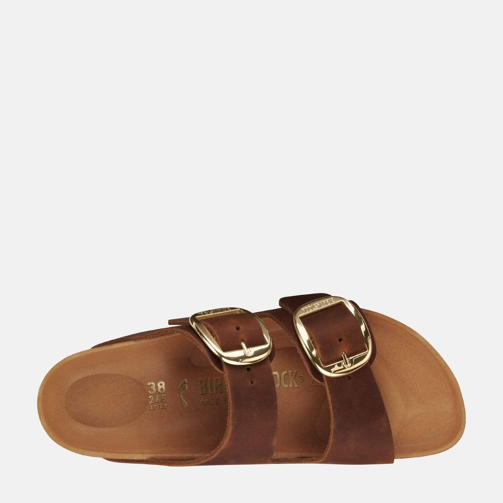 Birkenstock Footwear Arizona Big Buckle Narrow Fit Cognac 1011073