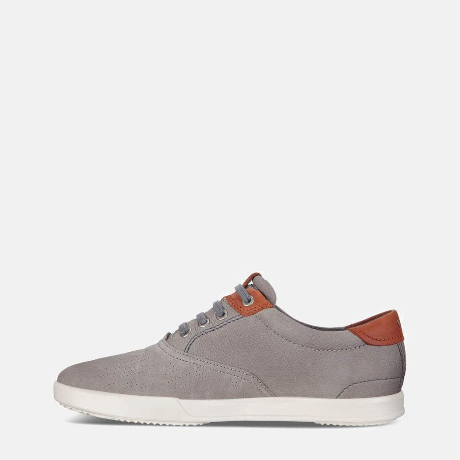 Ecco Footwear Collin 2.0 536224 58267 Warm Grey/Cognac -  Ecco Men's Grey Loafer Trainer Style Leather Shoes