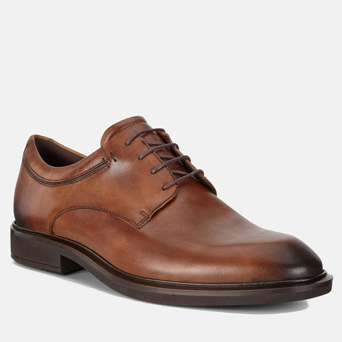 Vitrus III 640524 01112 Amber - Ecco Men's Brogue/Derby Formal Lace Up Tan Leather Shoes