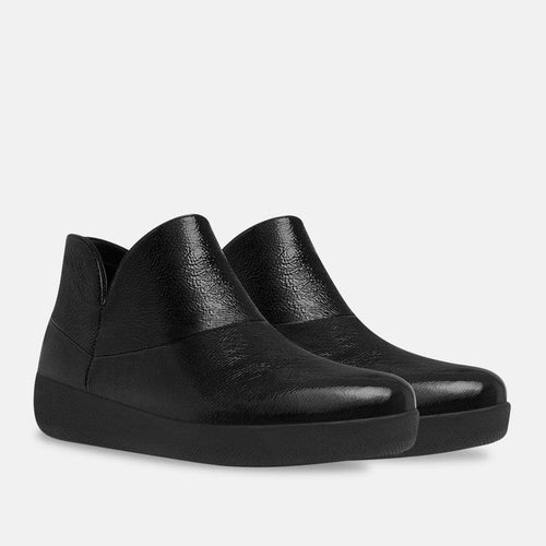 Supermod Leather Ankle Boot - Black Leather