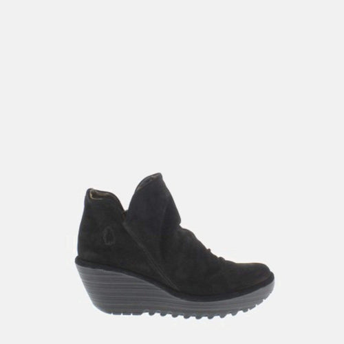 Yip Black Oil Suede