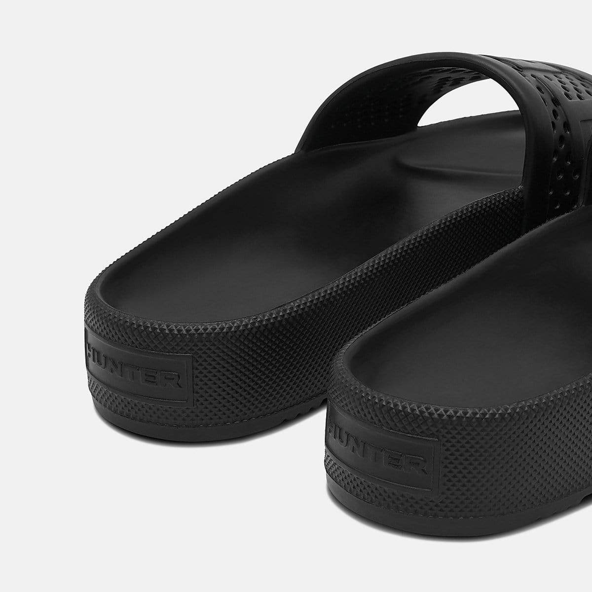 Hunter Footwear Mens Original Lightweight Moulded Slide Black