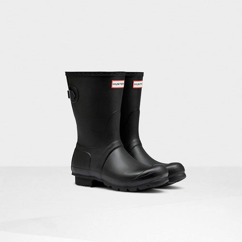 Women's Original Short Back Adjustable Wellington Boots Black