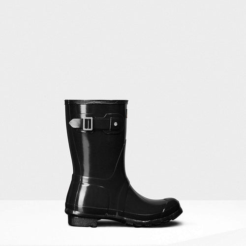 Women's Original Short Gloss Wellington Boots Black