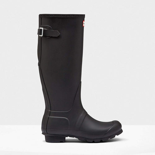 Women's Original Tall Back Adjustable Wellington Boots Black