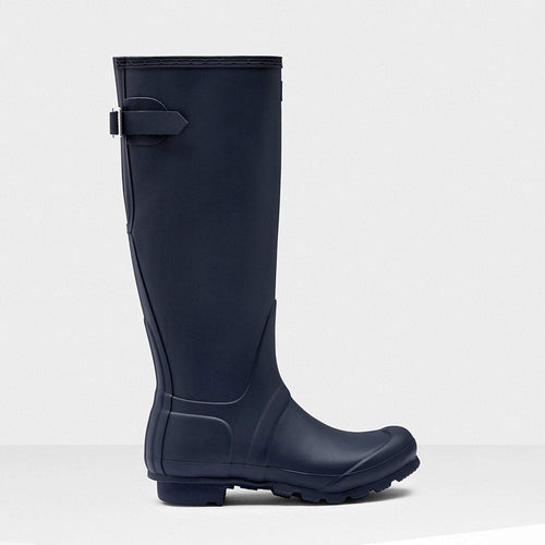 Women's Original Tall Back Adjustable Wellington Boots Navy
